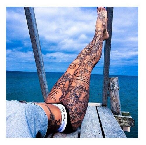 OMFG! !!! Most beautifull women leg Tattoo ♡♡♡♡♡