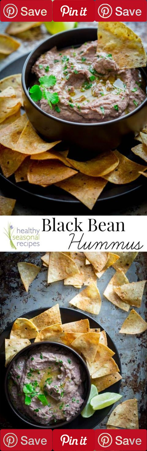 Vegan and gluten-free recipe for Black Bean Hummus. Flavored with coriander, fresh cilantro and lime. This is so good for a healthy snack or appetizer. Bring it to a Super Bowl party or serve it in a vegetarian sandwich.  #Picked