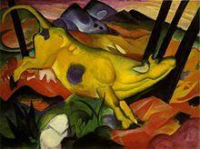Franz Marc; Mucca gialla; 1911; olio su tela; Museo Salomon R. Guggenheim, New York.