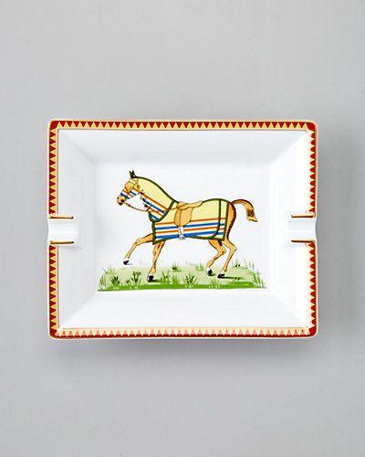 "Hermes ""Equestrian Horse"" Ash Tray"
