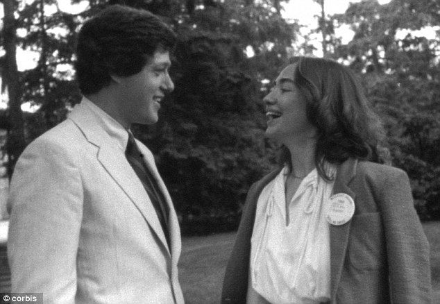Young love: Bill and Hillary Clinton