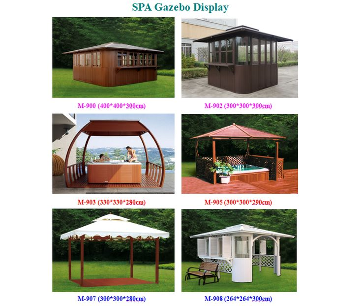 6 Models of Our SPA Gazebos  sc 1 st  Pinterest & 11 best Hot Tub Gazebos/Canopy/Bower/Shelter images on Pinterest ...