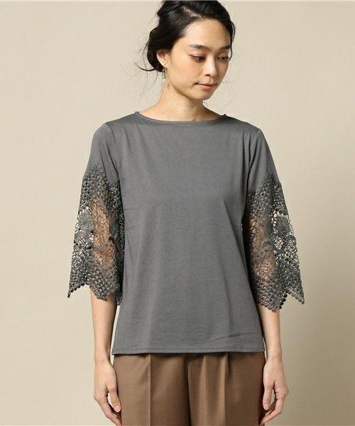 【ZOZOTOWN|送料無料】ELFORBR(エルフォーブル)のTシャツ/カットソー「袖レースボートネックプルオーバー」(3011261006)をセール価格で購入できます。