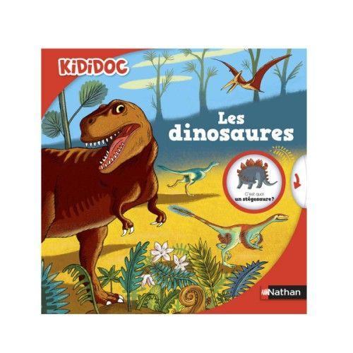 Quand les dinosaures ont-ils vécu ? Pourquoi ont-ils disparu ? Kididoc te fait revivre le temps des T-Rex ! Déplie un rabat, tu découvriras les espèces de dinosaures, actionne des tirettes, tu animeras un combat entre herbivores et carnivores...
