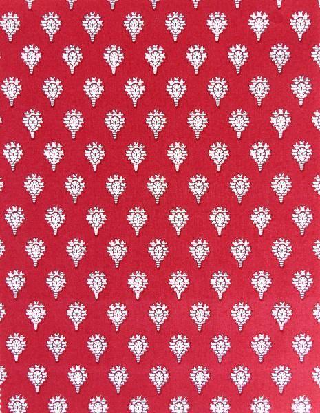 """Tissu de Provence au mètre """"Indianaire"""" rose motifs provençaux"""