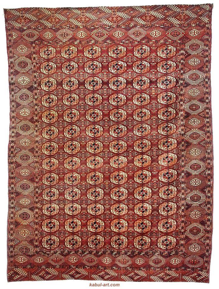 322x242 cm antik turkmen Buchara Carpet 1900