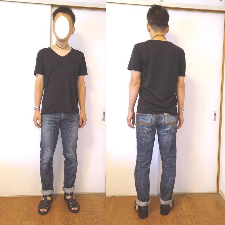 ボトムスをジーンズに変えてみました。フェチの人もいるくらい、ゲイにとってジーンズはエロの象徴。穿き込んでアタリが出た部分が白く色落ちしていくことで股関やヒップや太股の立体感が強調されます。