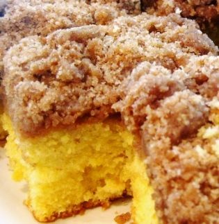Starbucks Copycat Coffee Cake Box Yellow Cake Mix (plus ingredients on back of box)  2 Sticks cold salted butter     2 1/4 Cups flour      1 1/2 Tablespoons cinnamon      1 3/4 Cups brown sugar      1 1/2 Tablespoons vanilla      Powdered sugar (for dusting)