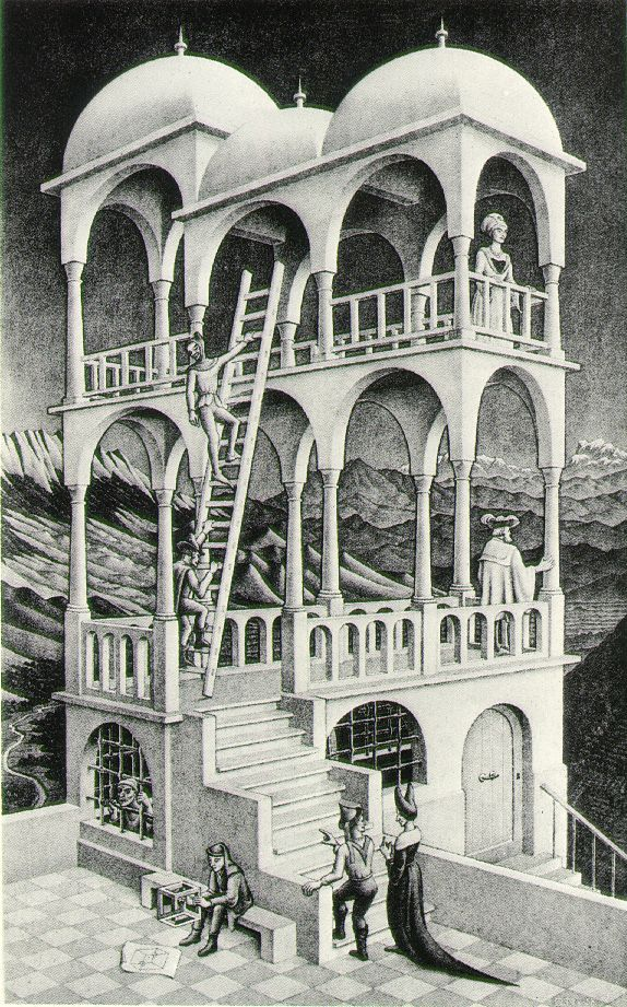 """M. C. Escher """"Order is repetition of units. Chaos is multiplicity without rhythm.""""...FIGURE & GROUND"""