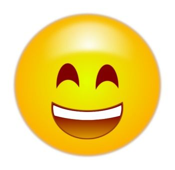 Happy emoji, emoticon. Free clip art. Fee free to use for personal ...