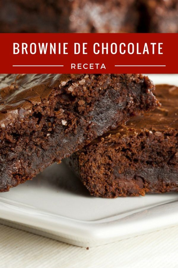 Brownie de chocolate receta