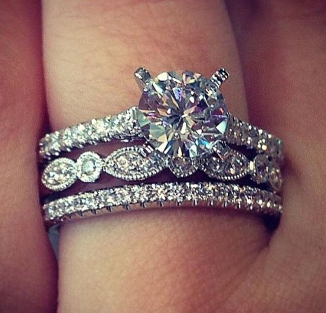 Best 25 Wedding Ring Set Ideas On Pinterest Halo