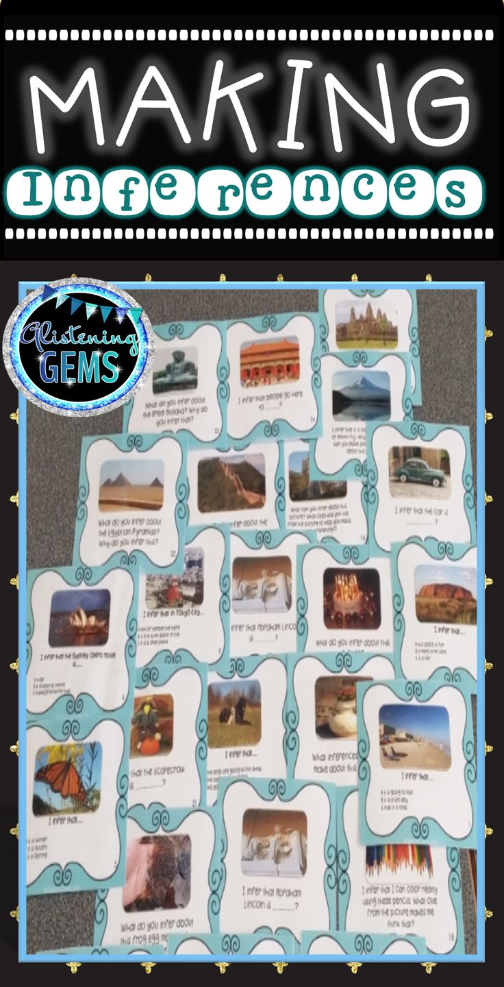 Inference Task Cards Using Photographs