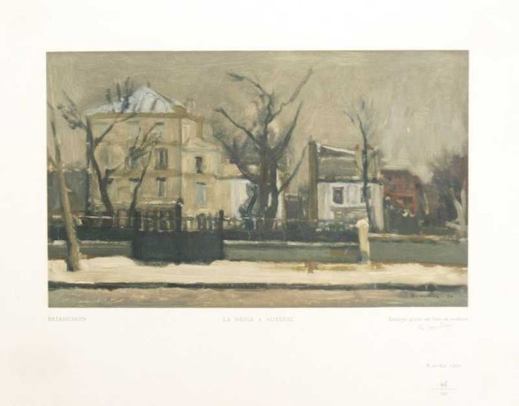 La Neige A Auteuil by Maurice Brianchon