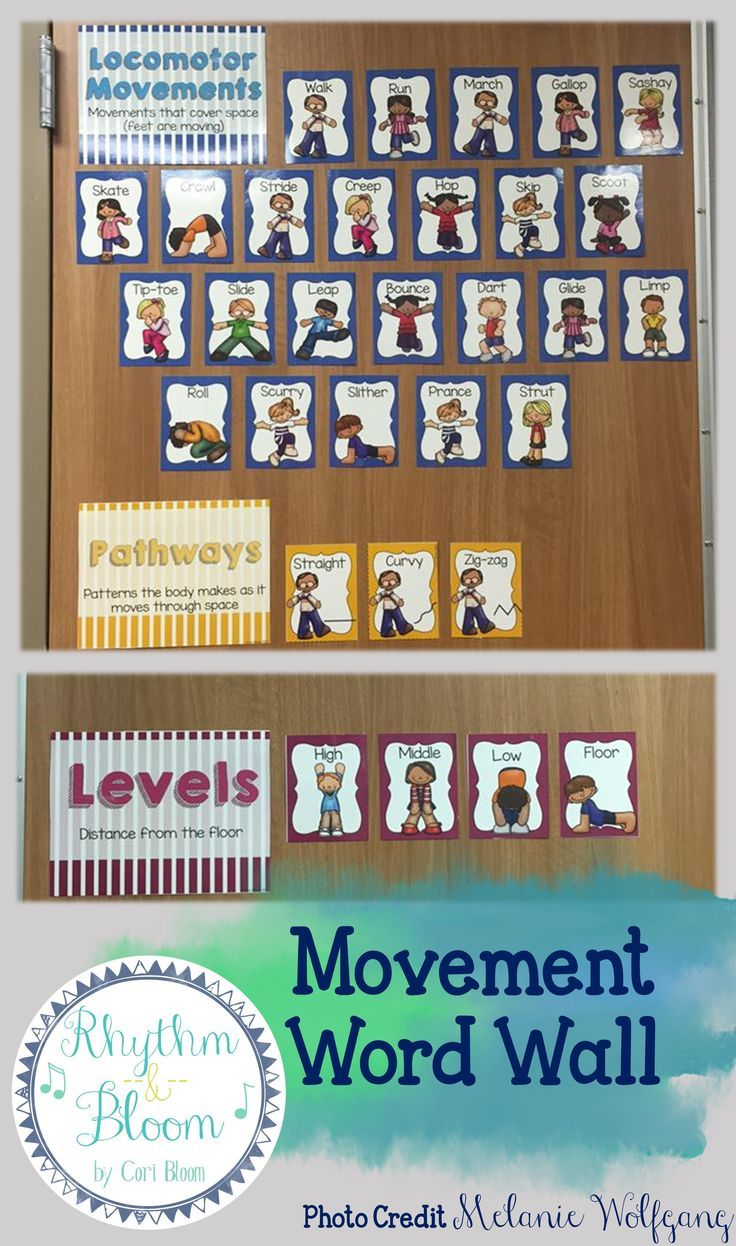 Movement Cards & Word Wall for the PE, dance, or music classroom! Perfect…