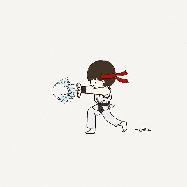 Hadouken! #ryu #catplusmouse #customportrait #fashionillustration #illustration #gaming #streetfighter #doodle #madewithpaper #hadouken