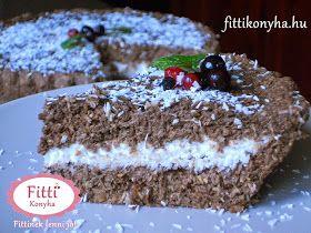 Fitti Konyha: Fitti kókuszos-zabpelyhes süti