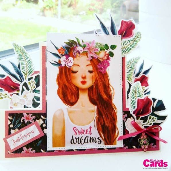Making Cards Magazine Part - 19: Made By Teresa Smith Using The Free Tropical Chill Craft Craft Paper  Collection Provided With The