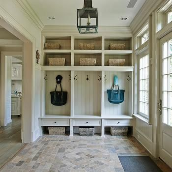 Mudroom Lockers, Cottage, laundry room, Brooks & Falotico