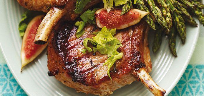 Côtelettes de porc grillées aux figues Recettes | Ricardo