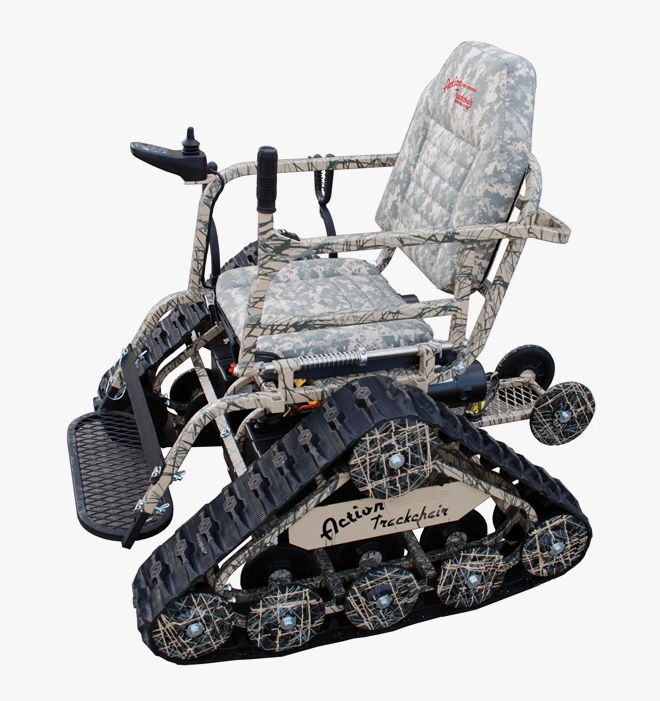 Action Trackchair / wheelchair. ...cause some boys are just cooler than others! This is the perfect chair for the paralyzed redneck like me!! I want one!!