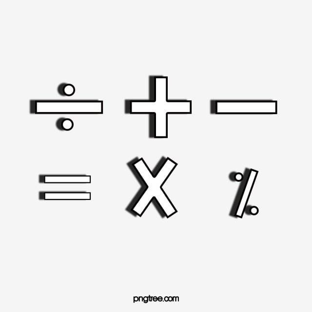13+ Math symbols clipart png ideas