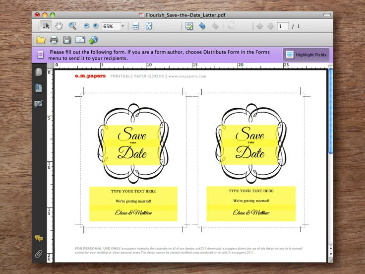 Printable Wedding Save The Date Cards: 10+ Handpicked