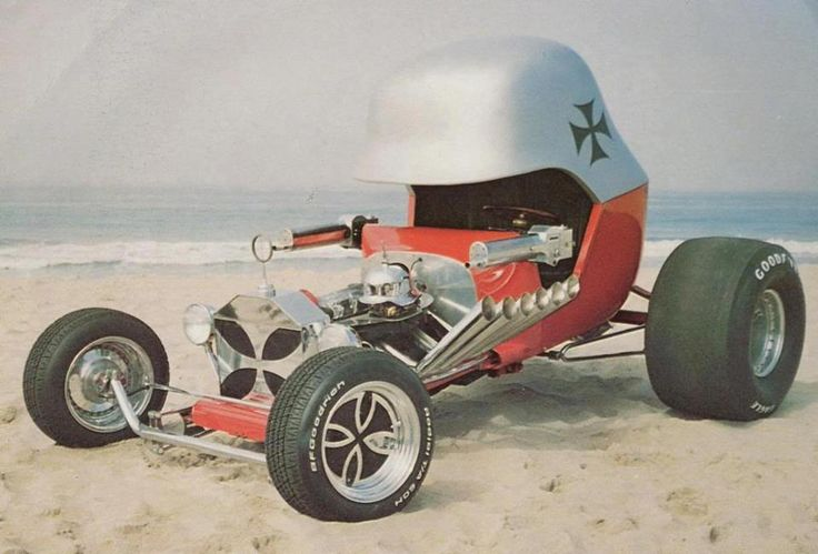 The famous Red Baron Roadster, c.1969. Originally designed by Tom Daniel in 1968 for Monogram Models, this full scale version was built by Chuck Miller.