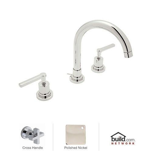 milano widespread chrome polished brass bathroom faucet. rohl a2208xm-2 lombardia bath widespread bathroom faucet includes brass pop-up drain assembly milano chrome polished d