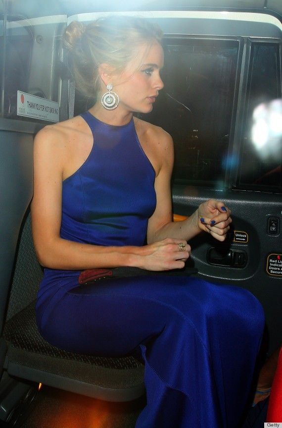 (Cressida Bonas)    I love this gown.  The color!  (on her nails, too!)