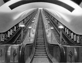 Elevator in the London underground | by Stockholm Transport Museum Commons