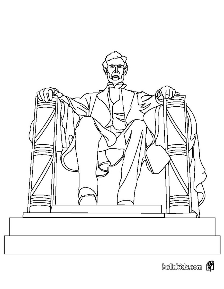 Lincoln Memorial Coloring pages, Bear coloring pages