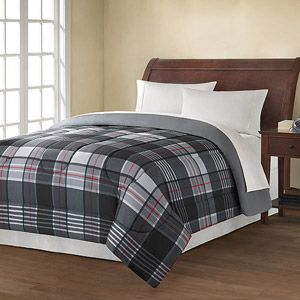 Mainstays Reversible Comforter Collection Plaid Walmart