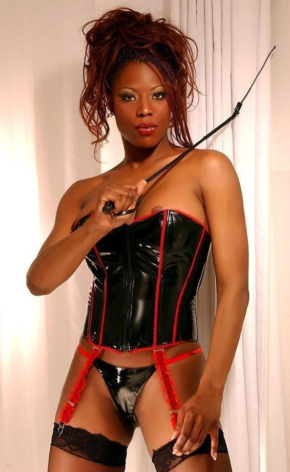 White male submissive and ebony femdom