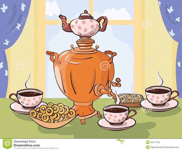 мультяшные картинки к чаю рукописный