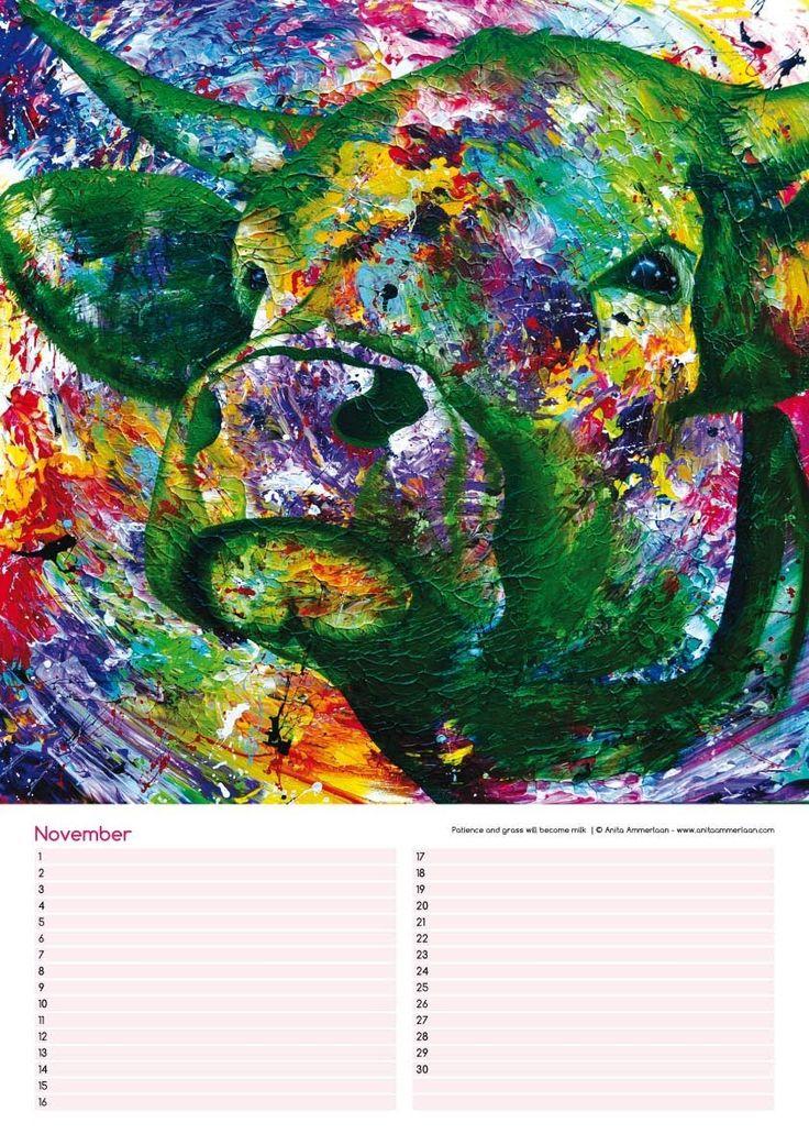A3 verjaardagskalender met 12 prachtige kleurrijke Lightscape-Cows van kunstenaar Anita Ammerlaan. Voor slechts 15 euro te verkrijgen bij Atelier Expositieruimte Anita Ammerlaan, Markt 39 in Roosendaal(nb). Kan ook verzonden worden, verzendkosten 6,75. info@anitaammerlaan.com www.anitaammerlaan.com