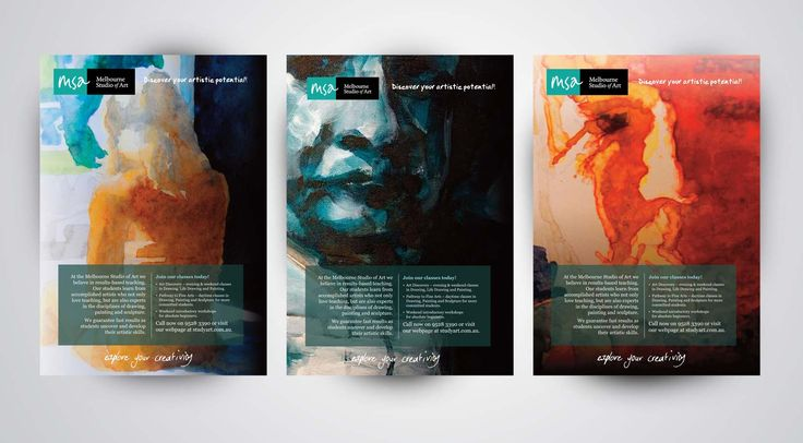 Promotional poster design for Melbourne Studio of Art by paul107