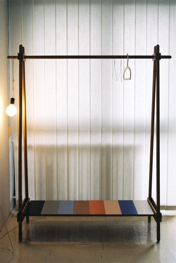 Ksilofon clothing rack by ana kras is a