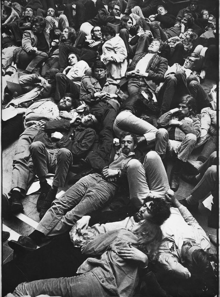 Netherlands. Demonstration by occupying Maagdenhuis Amsterdam, 1969