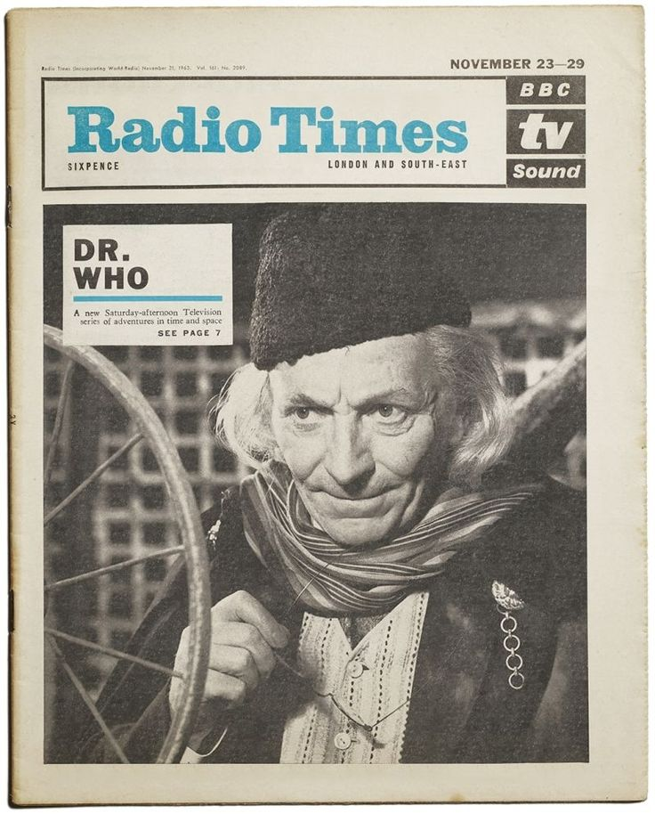 Planned Radio Times cover for the first ever Doctor Who. The cover was ultimately unused as it was felt that this new childrens' science fiction programme would not do well