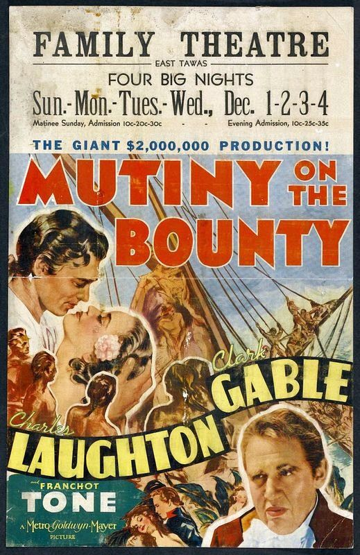 Mutiny on the Bounty (1935) Charles Laughton Clark Gable, Franchot Tone