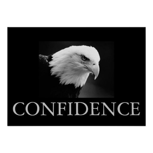 Black & White Motivational Confidence Eagle Poster