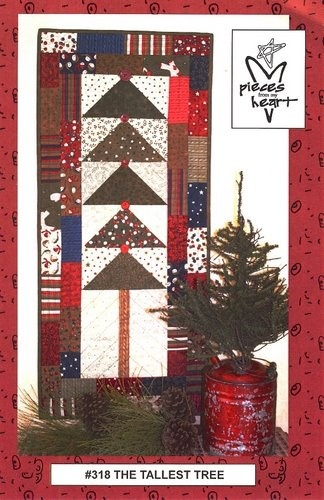 The Tallest Tree Wall Hanging Pattern By Pieces From My Heart SKU# PM318 -CWall Hangings, Crafts Ideas, Hanging Pattern, Trees Pattern, Tallest Trees, Heart Sku, My Heart, Trees Wall, Quilt Pattern