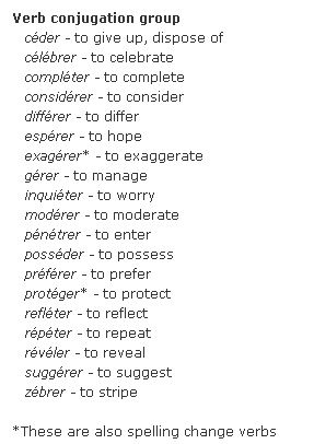 french er verbs