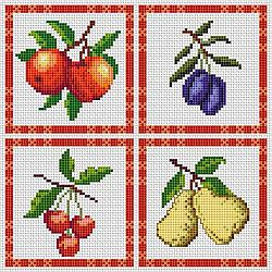 Free Cross Stitch Patterns: Kitchen Fruit