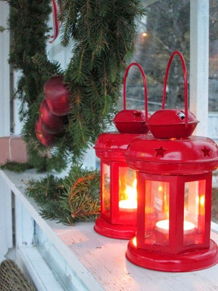 Add a Christmas glow to windows with Lanterns.