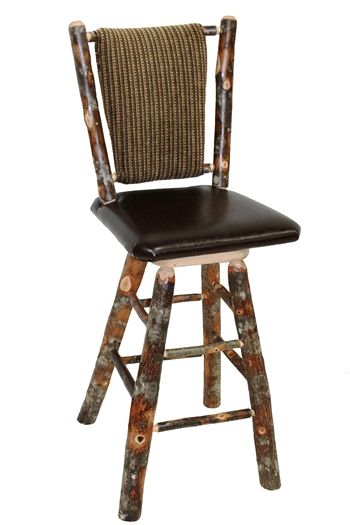 Pictures Is Of The Straight Back Mission Swivel Bar Stool With Custom  Upholstery On Back U0026