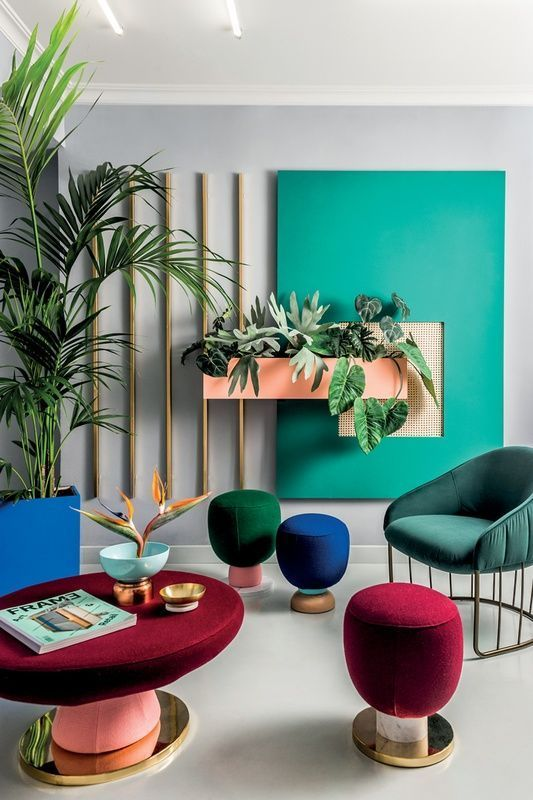 colorful modern interior inspiration with plants | Interior