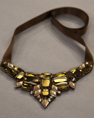 I think I just found my DIY project for Paula's birthday.  This is SO her!!! Sparkling Bib Necklace - Martha Stewart Crafts