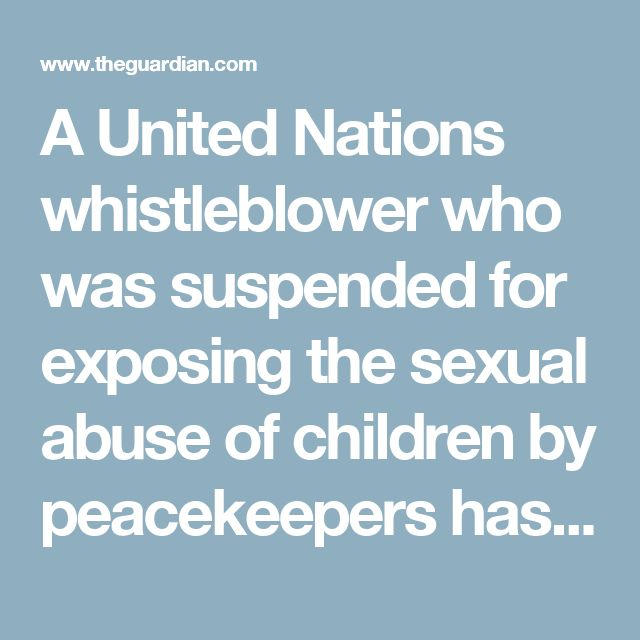 A United Nations whistleblower who was suspended for exposing the sexual abuse of children by peacekeepers has resigned over the organisation's failure to hold senior officials to account.  Anders Kompass, director of field operations at the UN human rights office in Geneva, announced his resignation on Tuesday. Kompass – whose suspension last year for exposing the sexual abuse of children in Central African Republic was revealed by the Guardian – said he could no longer work for an…